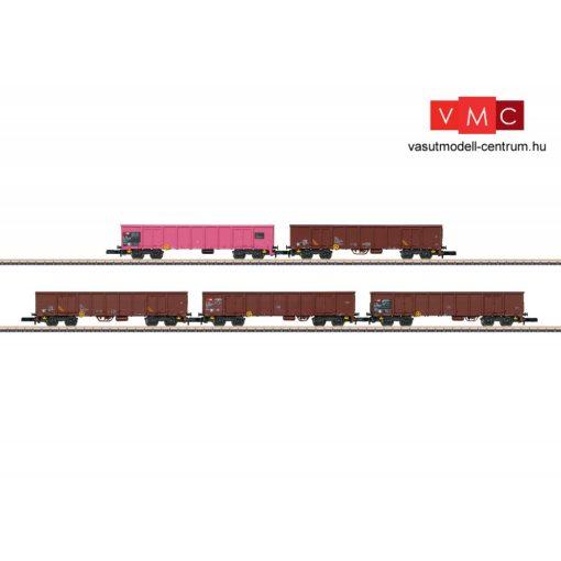 Märklin 82540 Nyitott négytengelyes teherkocsi-készlet, 5-részes Eanos, cukorrépa rakománnyal, SBB (E6) (Z)