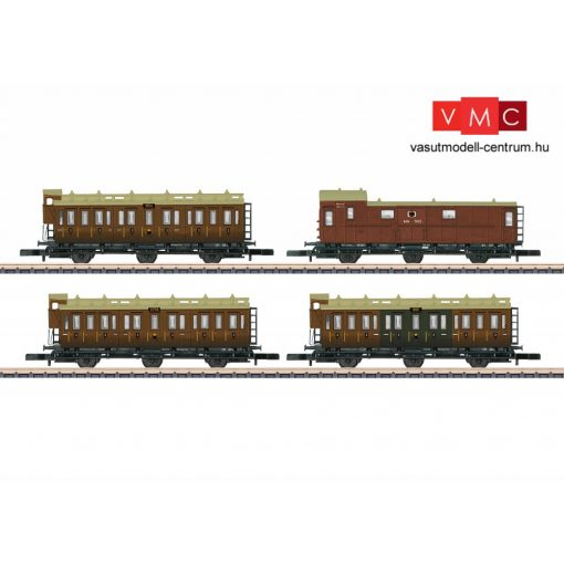 Märklin 87041 Személykocsi-készlet, 4-részes háromtengelyes porosz típusok, K.P.E.V. (E1) (Z)
