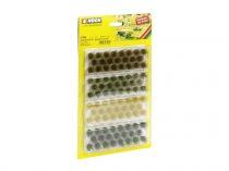 Noch 07008 Fűcsomók XL, sötétzöld, középzöld, barna, aranysárga színekben, 92 db - 12 mm