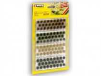 Noch 07009 Fűcsomók XL, sötétzöld, középzöld, barna, aranysárga színekben, 104 db - 6 mm