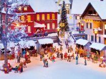 Noch 12897 Karácsonyi vásár, mikulásokkal és hangmodullal (H0) - LC