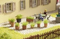 Noch 14032 Laser-Cut mini: zöld növények virágtartóban, 9 db