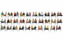 Noch 16072 Mega-Spar-Set: Ülő figurák (60 db), padok és lábak nélkül pl. személykocsikb