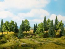 Noch 24620 Vegyes erdő, 8 db fa, 10 -14 cm (H0,TT)