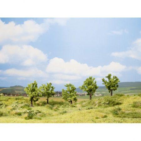 Noch 25001 Gyümölcsfa (5 db), zöld, 8 cm (H0,TT)