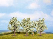 Noch 25111 Fehéren virágzó gyümölcsfa, 8 cm (3 db)