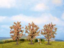 Noch 25112 Rózsaszín virágzó gyümölcsfa, 8 cm (3 db)