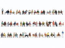 Noch 38402 Mega-Spar-Set: Ülő figurák padok nélkül, 60 db (N)