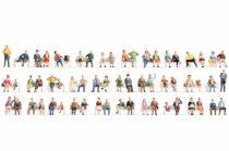 Noch 46071 Mega-figurakészlet: ülő emberek, 60 db (TT)