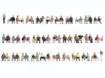 Noch 47402 Mega-Spar-Set: Ülő figurák padok nélkül, 60 db (TT)