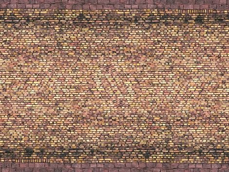 Noch 56605 3D-dekorlap: Téglafal, sárga (H0)