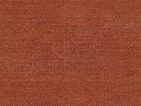 Noch 56610 3D-dekorlap: Klinkertégla, vörös (H0)