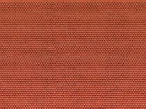 Noch 56690 3D-dekorlap: Hódfarkú tetőcserép, piros (H0)