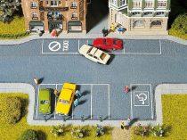 Noch 60550 Parkolóhelyek, 20 x 10 cm, 2 db / 4 db parkolóórával