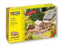 Noch 65616 Alpesi hegyi ház tehenekkel és szalmabálákkal - LC (H0)