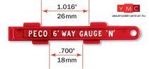 PECO 00930 SL-336 Vágánytengelytávolság ellenőrző (N) Setrack/Code 80/Code 55