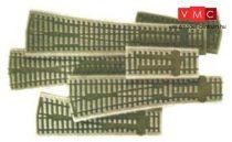 PECO 04130 SL-67 Ágyazat - Íves balos váltó, 12° Code 75/100 (H0), 2 db