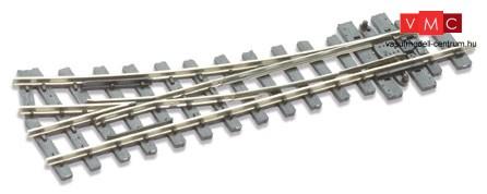 PECO 07110 SL-E491 Bányavasúti jobbos váltó, 19,5°, polarizált (H0e) - Code 80 Streamline