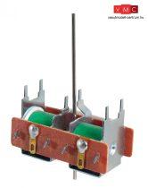 PECO 08003 PL-10WE Padló alatti elektromos állítómű, hosszú acélszállal