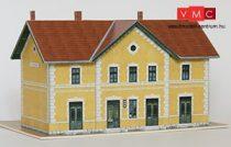 Papírbakter 20 Piliscsaba HÉV elsőosztályú felvételi épület, vasútállomás (H0)