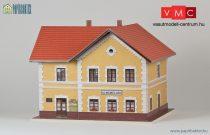 Papírbakter 03 Nagyharsány HÉV harmadosztályú felvételi épület, vasútállomás (H0)