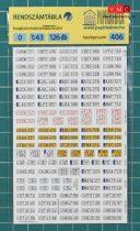 Papírbakter 403 Magyar rendszámtábla készlet (H0)