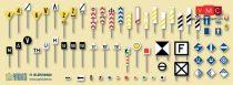 Papírbakter 513 Vasúti jelzőtáblák > F1 készlet, (TT)