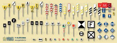 Papírbakter 533 Vasúti jelzőtáblák> F1 készlet (H0)