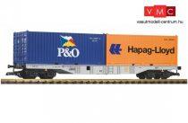 Piko 37751 Konténerszállító négytengelyes teherkocsi, 2 db 20 lábas konténerrel, DB-AG (