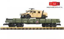 Piko 38764 Amerikai négytengelyes alacsony oldalfalú teherkocsi, (Humvee) terepjáróval (G)