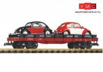 Piko 38765 Amerikai négytengelyes alacsony oldalfalú teherkocsi, 2 db Volkswagen bogárral (K