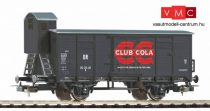 Piko 58924 Fedett teherkocsi fékházzal, G02, Club Cola, DR (E3) (H0)