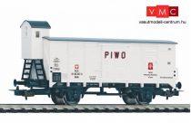 Piko 58946 Fedett sörszállító teherkocsi fékházzal, PIVO, PKP (E3) (H0)