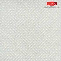 Plastruct 101152 PSW-152 Bézs barázdált sztirol lap, 180 x 305 mm 1:48, trepni lemez (1db)