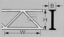 Plastruct 190654 OWTS-12 Rácsos tartó, hídelem 9,5 x 150mm (1db)