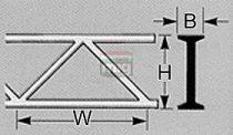 Plastruct 190655 OWTS-16 Rácsos tartó, hídelem 12,7 x 305mm (1db)