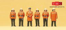 Preiser 10214 Álló tűzoltók, védőöltözetben (H0)