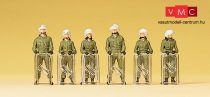 Preiser 10395 Német rohamrendőrök teljes felszereléssel (pajzs, sisak) (H0)