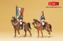 Preiser 10460 Francia Köztársasági Gárda lovasai zászlóval (H0)