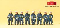 Preiser 10483 Ülő tűzoltók védőruhában (H0)