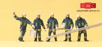 Preiser 10484 Tűzoltók védőruhában (H0)