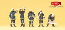 Preiser 10486 Tűzoltók védőruhában bevetésen (H0)