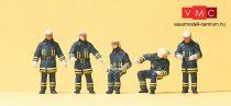 Preiser 10487 Tűzoltók védőruhában bevetésen (H0)