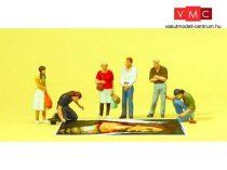 Preiser 10549 Járdafestő művészek és gyalogosok (H0)