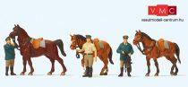 Preiser 10583 Lovasrendőrök, álló rendőrök lóval (H0)