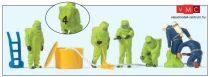 Preiser 10731 Tűzoltók teljes vegyvédelmi védőfelszerelésben - zöld színben (H0)
