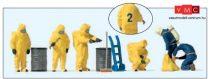 Preiser 10733 Tűzoltók teljes vegyvédelmi védőfelszerelésben - sárga színben (H0)
