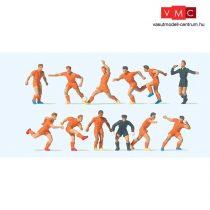 Preiser 10761 Futballcsapat bíróval, narancssárga mez (H0)