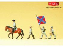 Preiser 12053 Konföderációs katonák zászlóval, amerikai polgárháború 1861-1865 (H0)