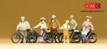 Preiser 12129 Kerékpárosok az 1900-as évekből (H0)